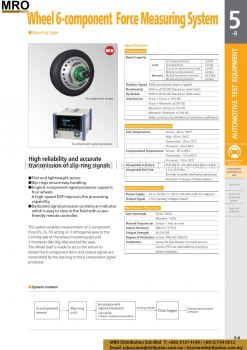 Wheel 6-component Force Measuring System
