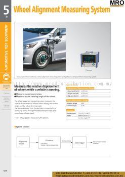 Wheel Alignment Measuring System