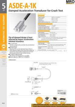 Damped Acceleration Transducer for Crash Test ASDE-A-1K