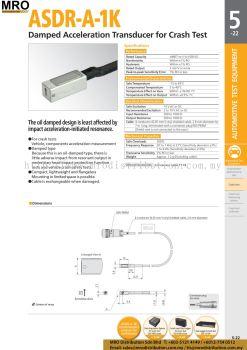 Damped Acceleration Transducer for Crash Test ASDR-A-1K
