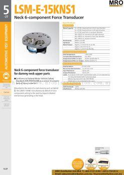 Neck 6-component Force Transducer LSM-E-15KNS1