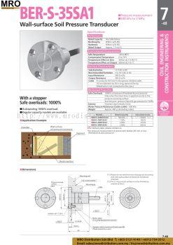 Wall-surface Soil Pressure Transducer BER-S-35SA1