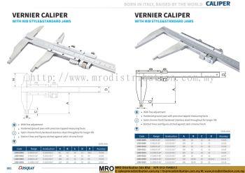 Vernier Caliper with Nib Style & Standard Jaws