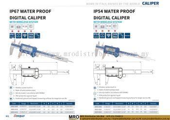 IP67 Water Proof Digital Caliper With Wireless System & IP54 Water Proof Digital Caliper
