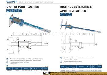 Digital Point Caliper & Digital Centerline & Apothem Caliper