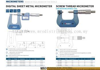 Digital Sheet Metal Micrometer & Screw Thread Micrometer Non-Rotating Spindle Type