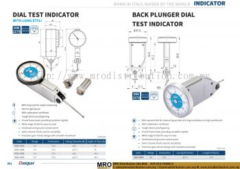 Dial Test Indicator With Long Styli & Back Plunger Dial Test Indicator