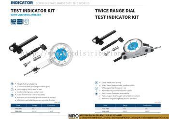 Test Indicator Kit With Universal Holder & Twice Range Dial Test Indicator Kit