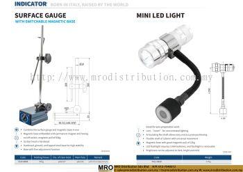 Surface Gauge With Switchable Magnetic Base & Mini LED Light