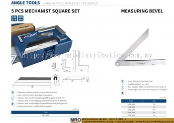 5 Pcs Mechanist Square Set & Measuring Bevel