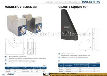 Magnetic V-Block Set & Granite Square 90��