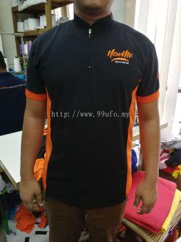 Mandarin collar with zip
