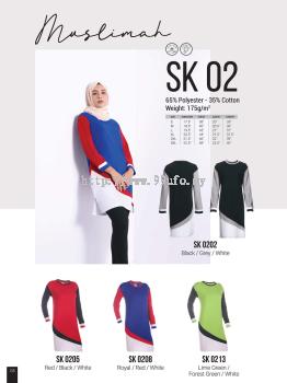 SK02  OREN SPORT  (Muslimah)