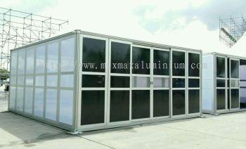 Aluminium MODULAR SUSPENDED SLIDING DOOR