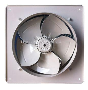 Wall mounted axial-propeller fan