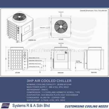 3HP Air cooled Chiller