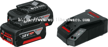 BOSCH STARTER KIT 18V 4.0AH (2 BATTERY 1 CHARGER)