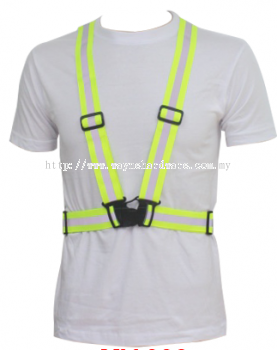 Elastic Vest Lime Green + White