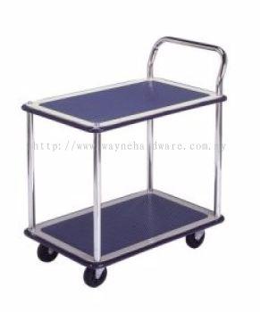 2 Shelf 1 Handle Trolley