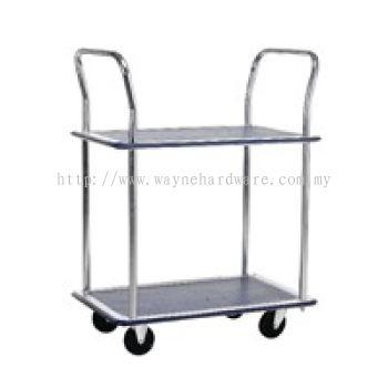 2 Shelf 2 Handle Trolley
