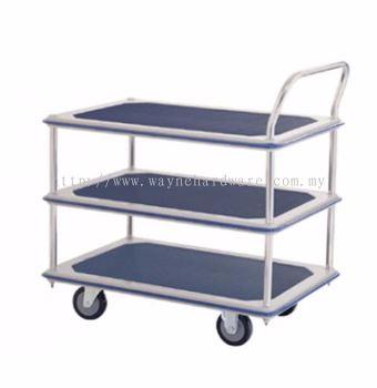 3 Shelf 1 Handle Trolley