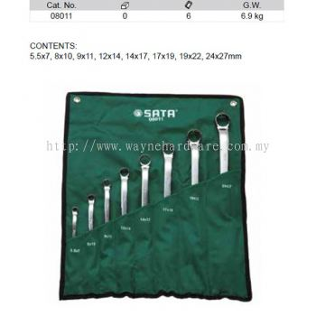 08011 - Pc Metric Offset Double Box End Wrench Set