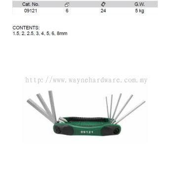 09121 - Pc Metric Hex Key Fold up Set