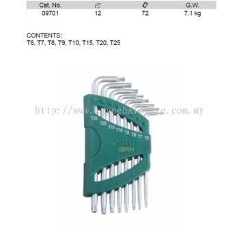 09701 - Pc Torx Tamper Proof Key Set