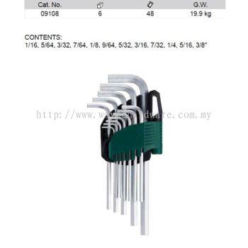 09108 - Pc SAE Long HeX Key Set