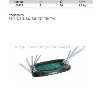 09123 - Pc Torx Key Fold up Set