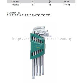 09702 - Pc Torx Tamper Proof Key Set