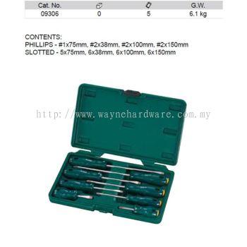 09306 - Pc Acetate Combination screwdriver Set