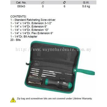 09343 - Pc Ratcheting Screwdriver Set