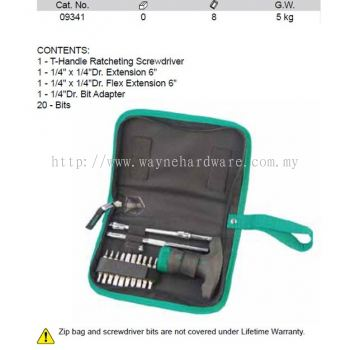 09341 - Pc Ratcheting T handle ScrewdriveR