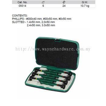 09314 - Pc Precision Combination Screwdriver Set