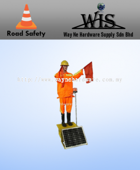 Solar Traffic Robot Man