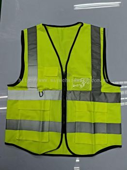 Safety Vest 4 Reflective Tape with Pocket