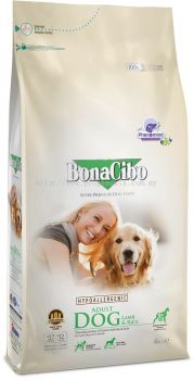 BonaCibo Adult Dog Lamb & Rice 4kg