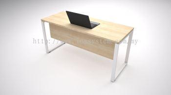 RECTANGULAR TABLE WITH SQUARE METAL LEG