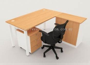 EXECUTIVE DESK WITH FIXED CABINET