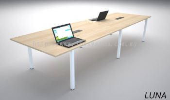 MEETING TABLE WITH U METAL LEG