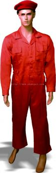 Dyed TC Dril Orange Coverall