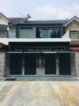 Stainless Steel Gate With Aluminium Panel