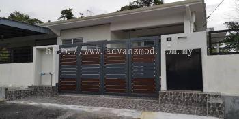 Mild Steel Gate With Aluminium Panel