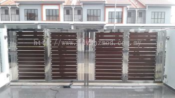 Stainless Steel Gate With Aluminium Panels