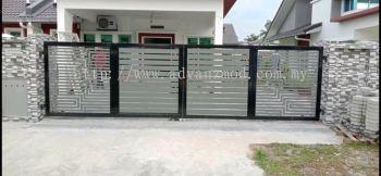 Mild Steel Gate With Aluminium Panels