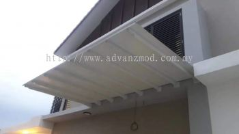 Awning Cover with Aluminium Composite panel White