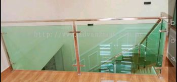 Site: Puchong Meranti. Stainless Steel Glass Railing With Tempered Glass