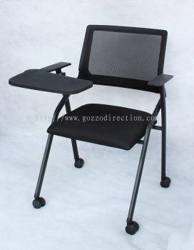 Kerusi Latihan Mudah Alih dan Mudah Lipat dengan Meja