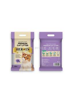 60245 Heroes 8L Cat Litter - Lavender